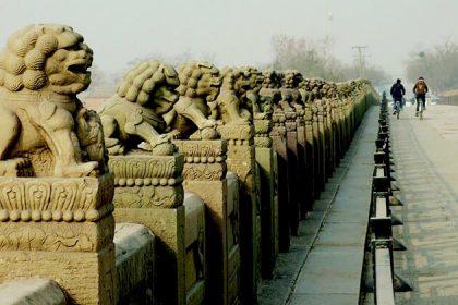 Ancient Stone in Marco Polo Bridge
