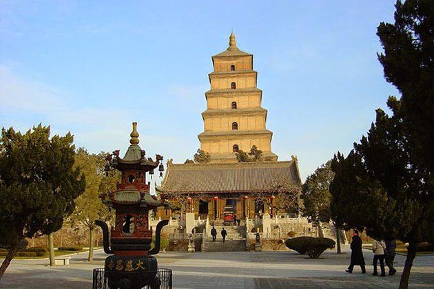 Big Wild Goose Pagoda Xian Shanghai Tour