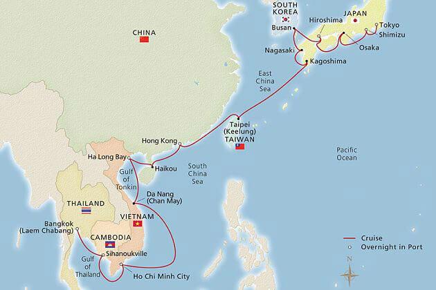 China Shore Excursions cruise itinerary