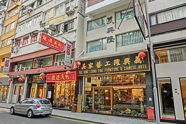 Hollywood Road in Hong Kong Tour from Cruise Port