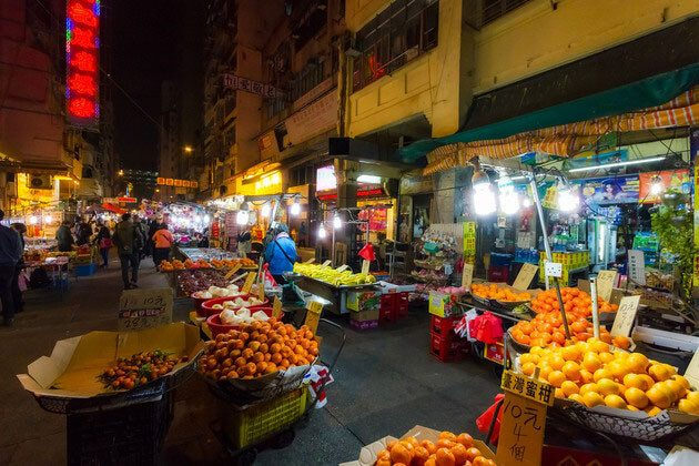 Night Market in Hong Kong Tour from Cruise Port