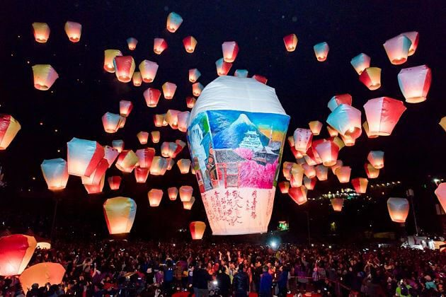 Pingxi lanterns festival Taipei Tour From cruise port