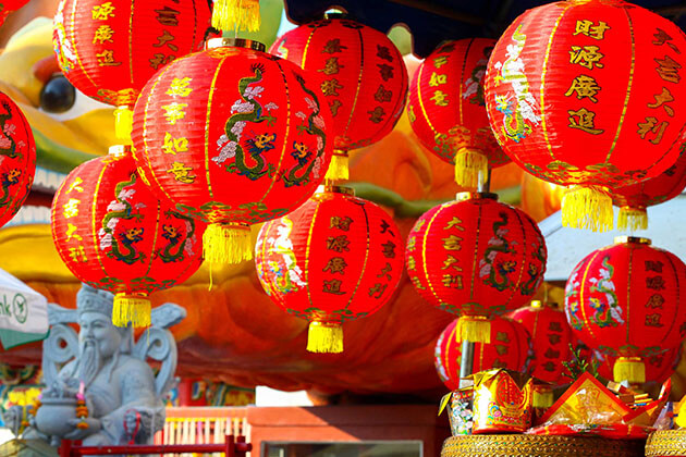 red Lantern in China New Year